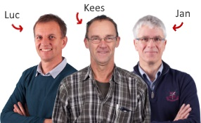 Luc, Kees en Jan