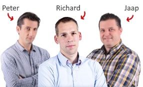Peter, Richard en Jaap