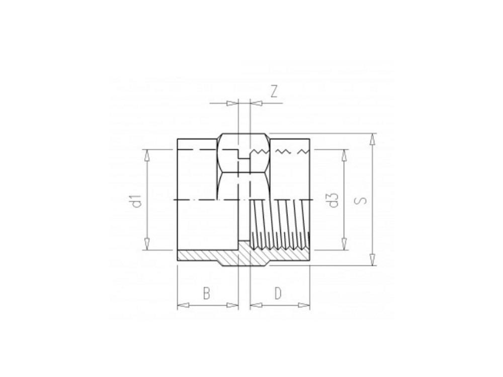 Złączka mufka 32x1
