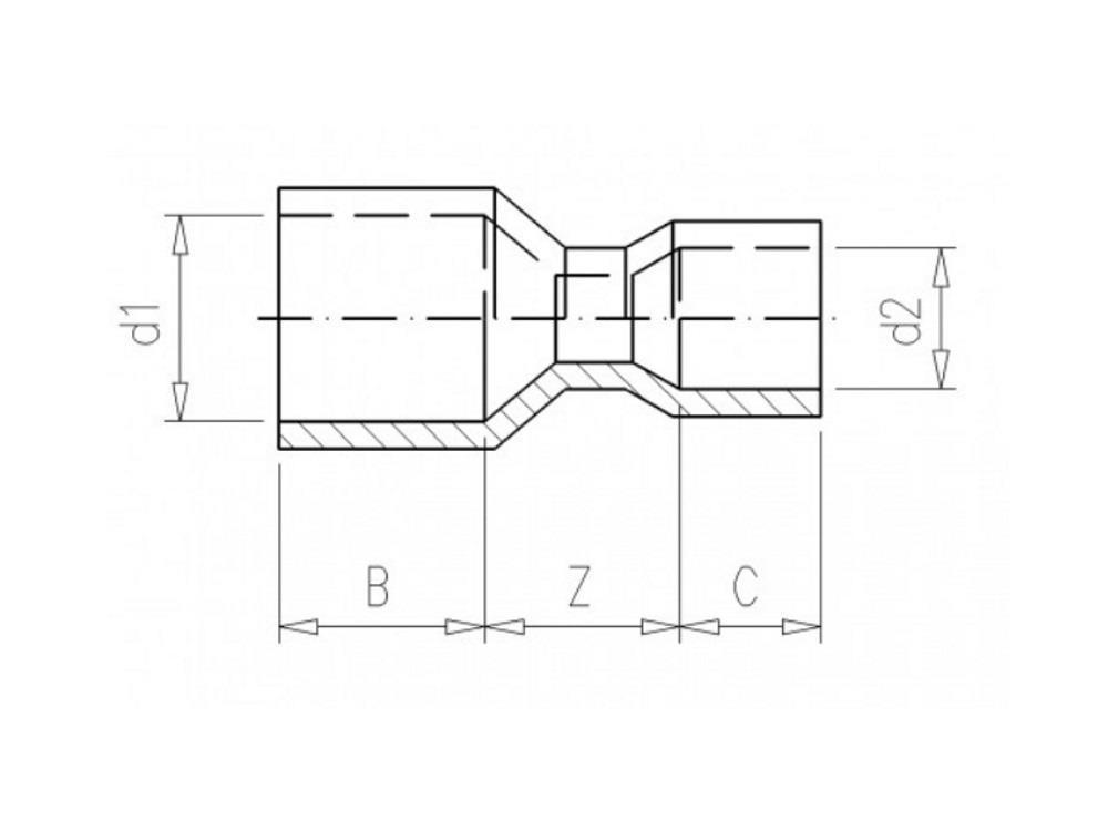 Złączka redukcyjna 75x63
