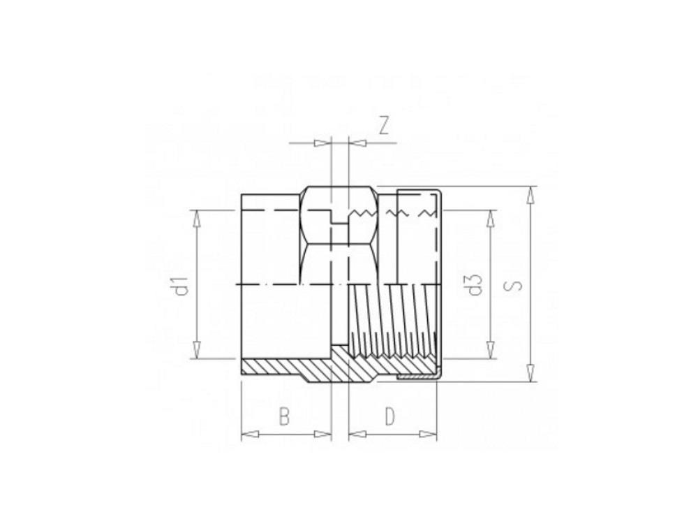 Złączka mufka 63x2