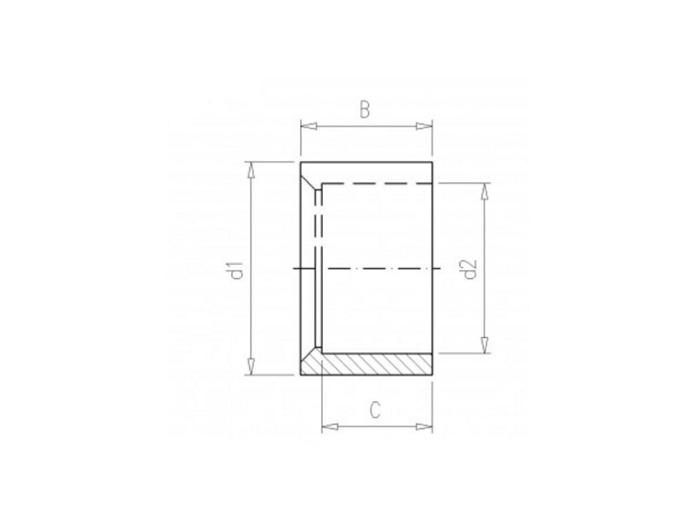 Złączka redukc pierśc 32x25