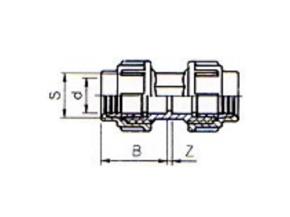 Złączka pe 16x16