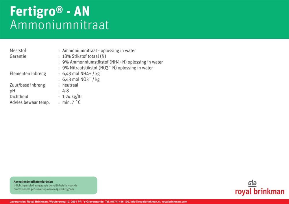 Saletra amonowa  Fertigro AN płynna 202ltr/250kg