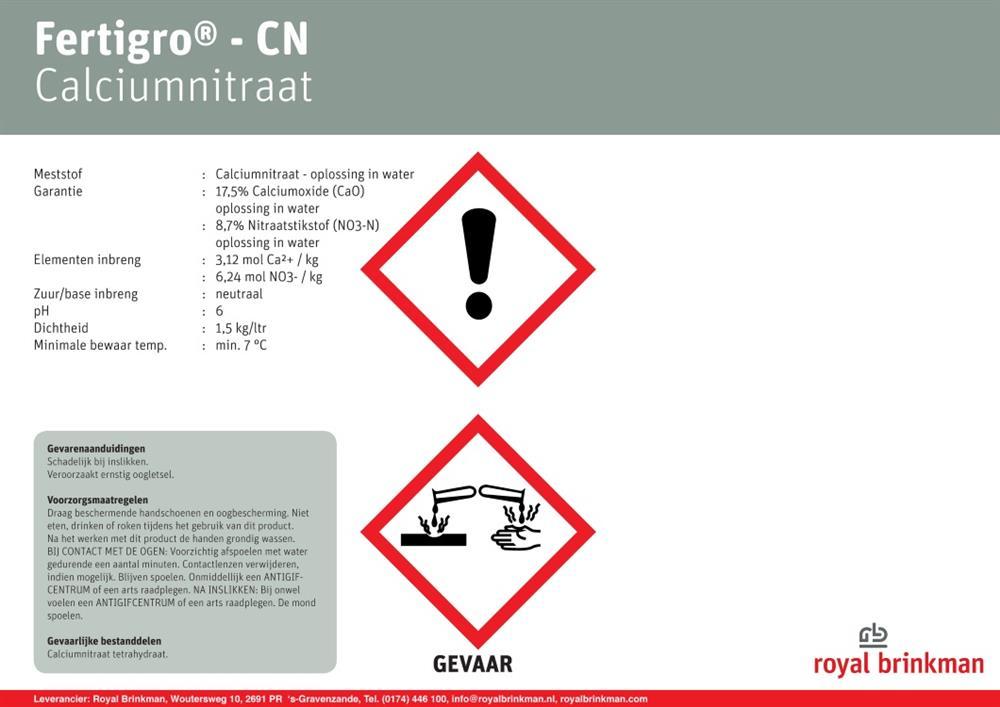 Saletra wapniowa płynna Fertigro CN 967l/1450kg