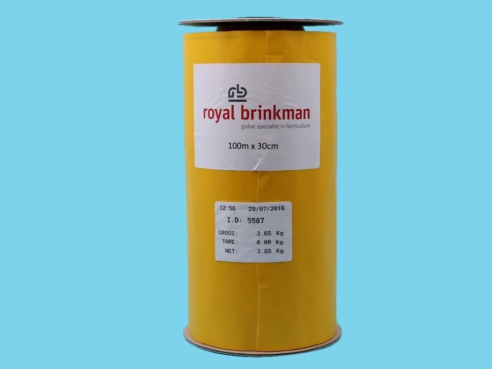 Taśma sygnalizacyjna żółta 100m x 30cm (Optiroll)