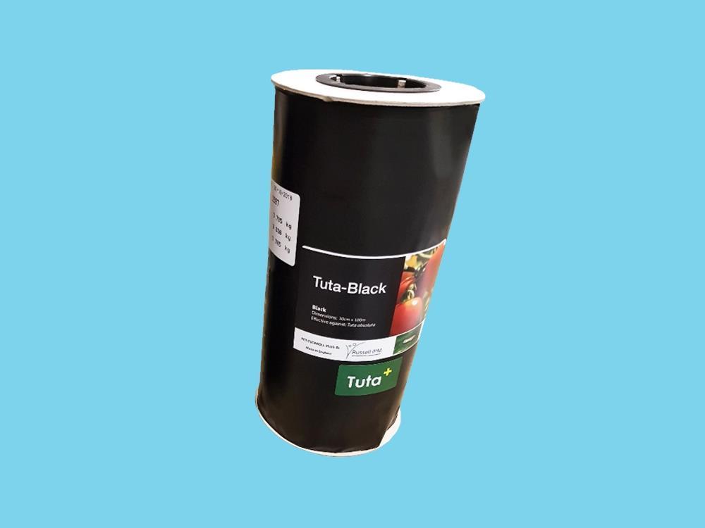 Taśma sygnalizacyjna czarna 100 x 15 cm (Tuta)