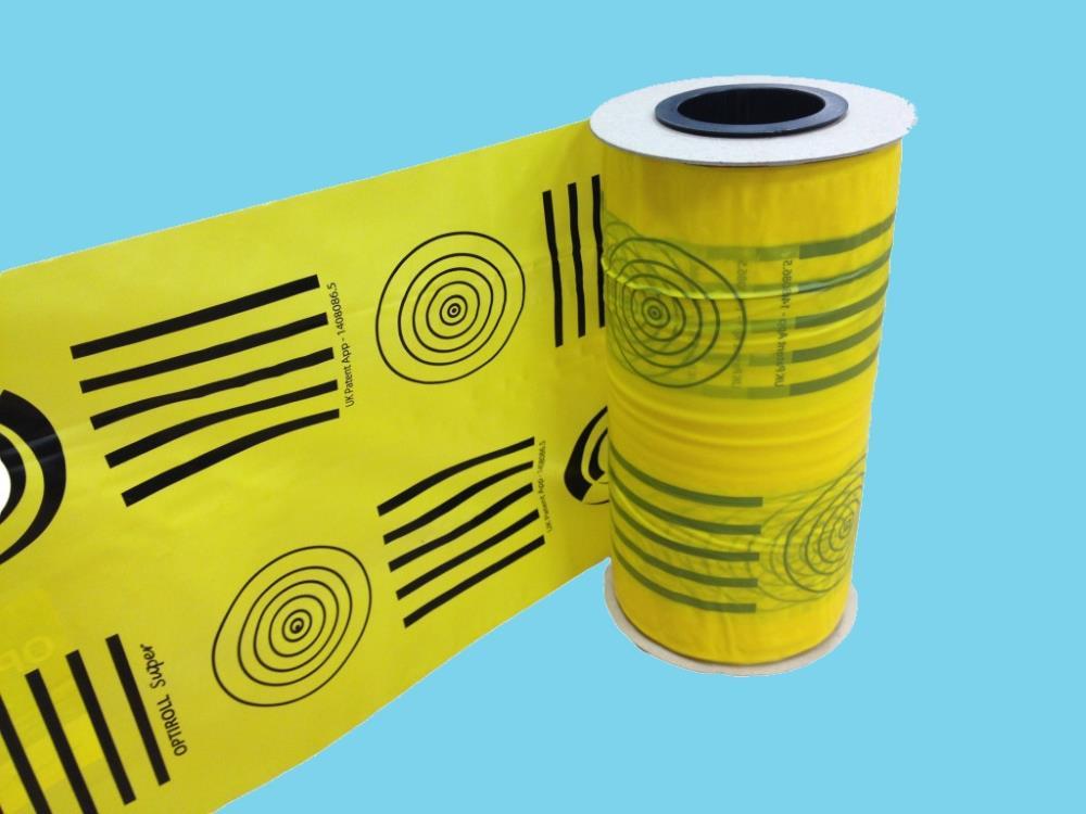 Taśma sygnalizacyjna żółta 100m x 30cm (Optiroll Super Plus)