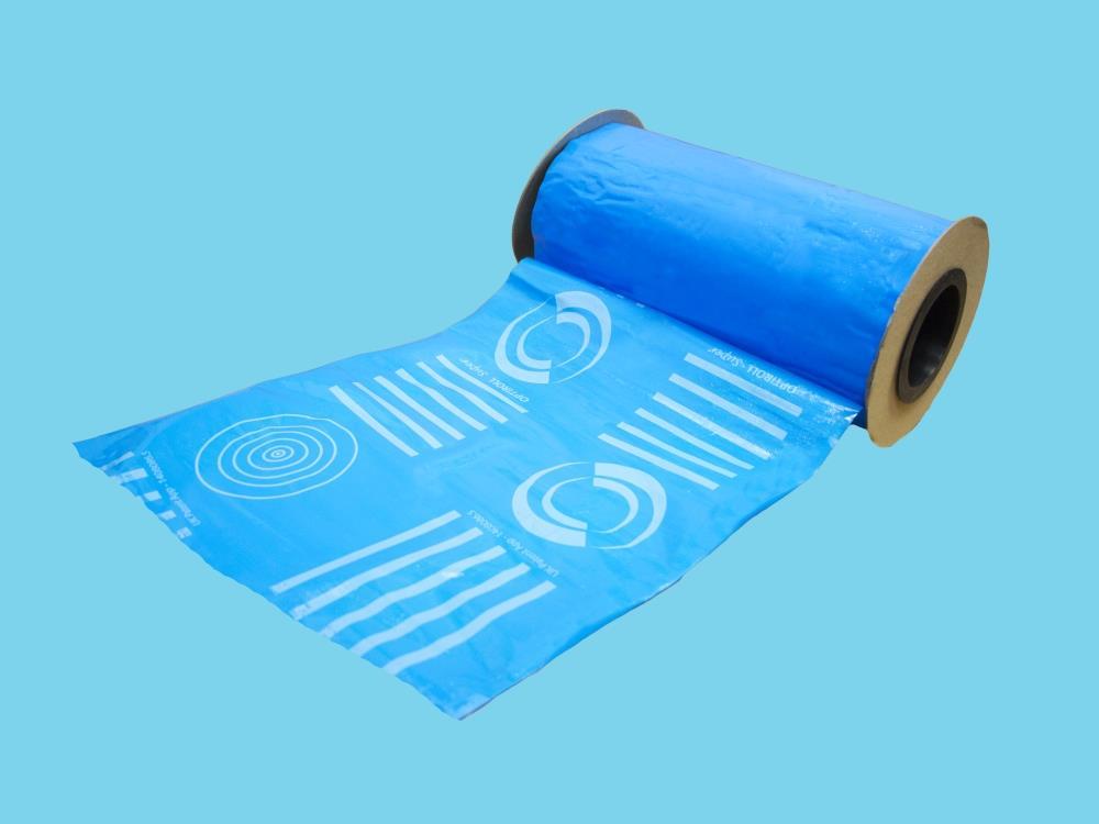 Taśma sygnalizacyjna niebieska 100m x 15cm (Optiroll Super)
