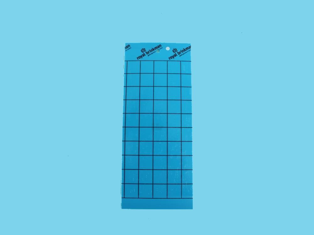 Tablica klej sygnaliz. niebieska [10x25cm] 10szt +druciki