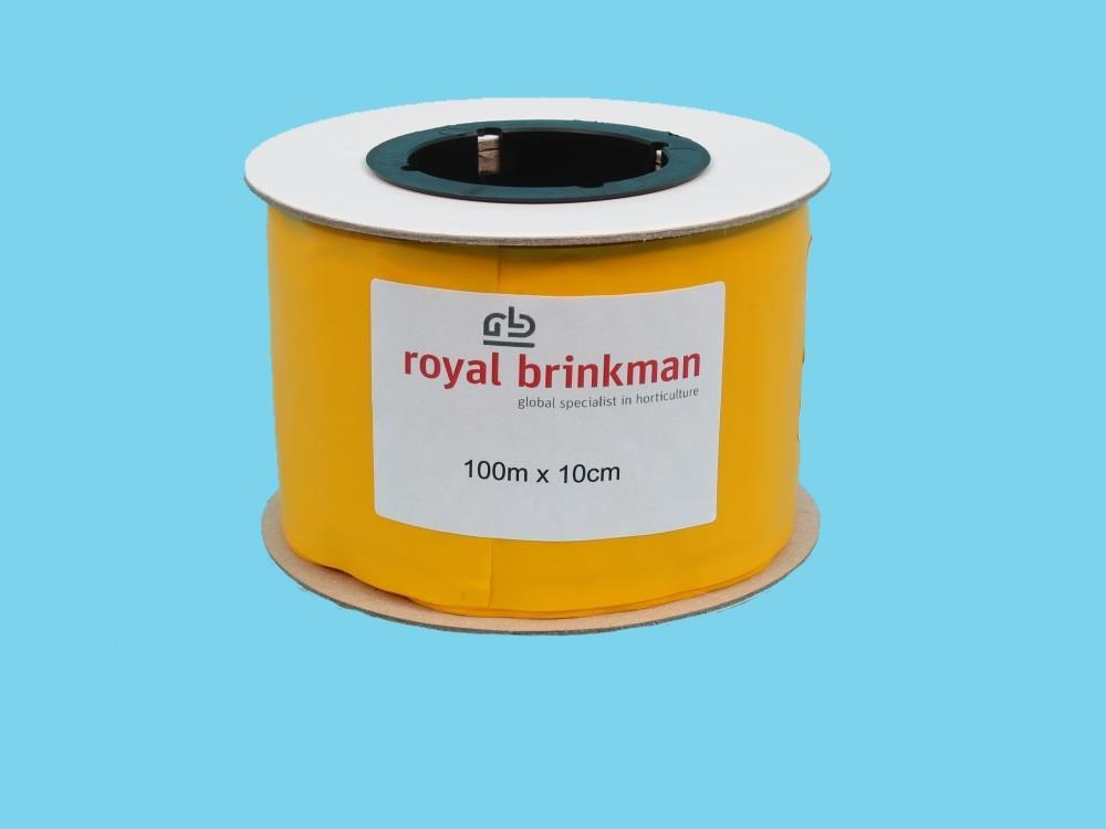 Taśma sygnalizacyjna żółta 100m x 10cm (Optiroll)