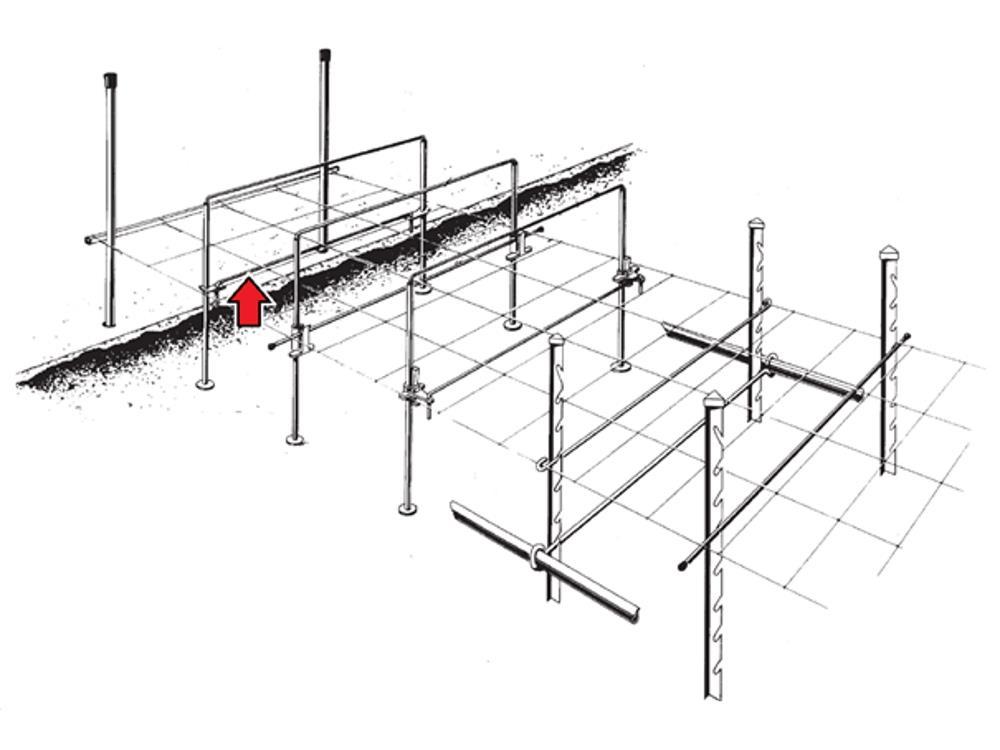Siatka podpórka 7,0mm 121cm zag. 2x4cm