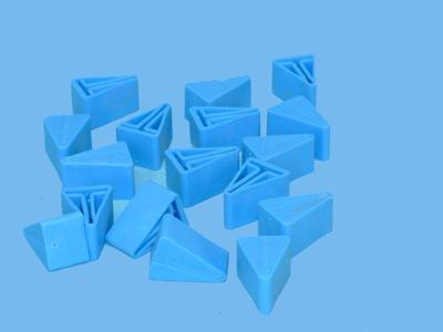 Siatka korek T niebieski do profili alu