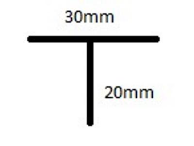 Siatka profil aluminiowy T 150cm 20 wpustów