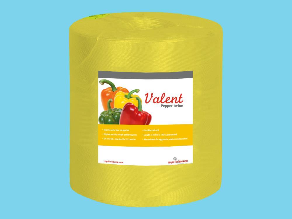 Sznurek valent do papryki 1/1500 6kg żółty