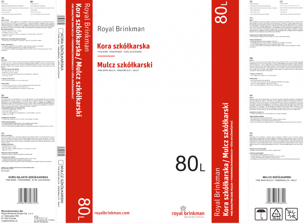 Mulcz szkółkarski 80L