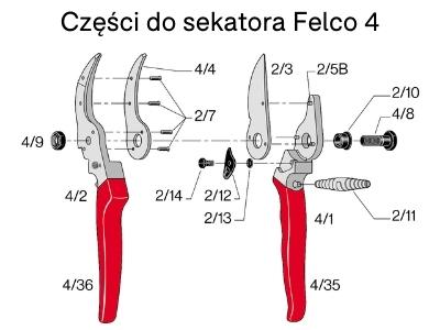 Ostrza do sekatora Felco 2/3 EU do modeli 2, 4, 11