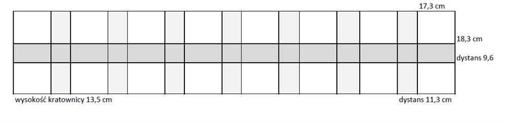 Kratownica  szkół nr 5. 2x8; 0,55x2,19m