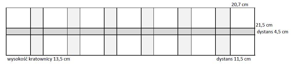 Kratownica  szkół nr 6. 2x7; 0,55x2,19m