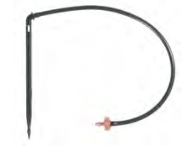 Kroplownik Netafim ko.ciś.PCJ CNL 2l/h wężyk 70cm+stopka kpl