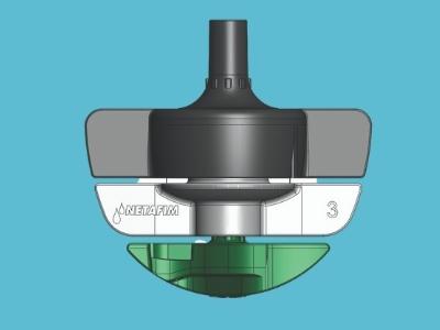 Zraszacz SpinNet LR (zielony) 200l/h 90cm