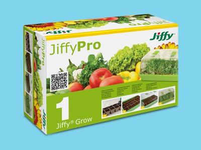 JiffyGrow mini szklarnia z trwałego tworzywa 38x24x18cm