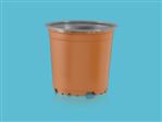 Doniczki TEKU VCH 11 (PCR) terracotta/szary SPU (2072)
