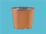 Doniczki TEKU VCG 11 (PCR) terracotta/szary SPU (2212)